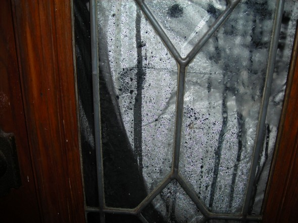 That Is The Front Door From The Outside Looking In At Condensation